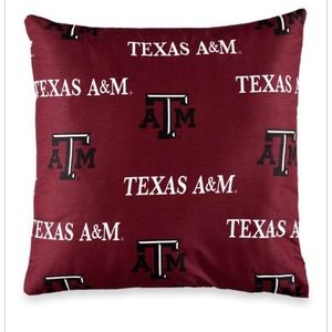 Other - New- Texas A & M throw pillow maroon black white